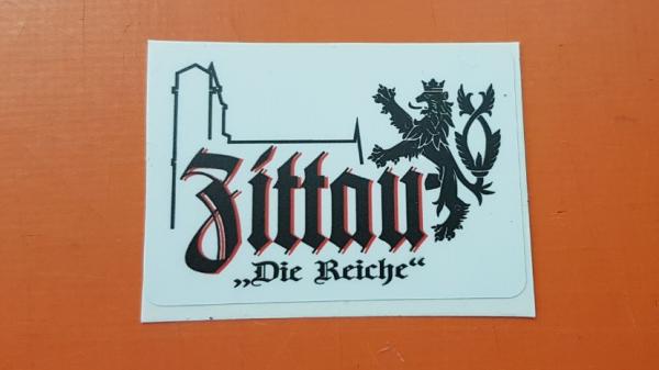 """Aufkleber """"Zittau die Reiche"""""""