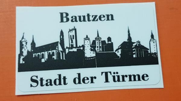 """Aufkleber """"Bautzen - Stadt der Türme"""""""
