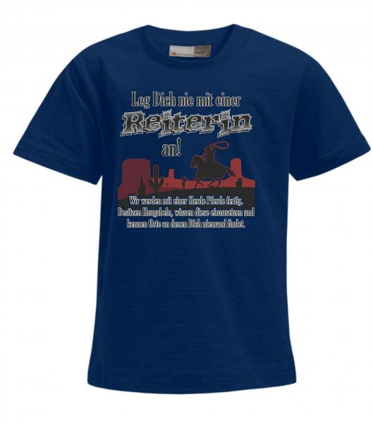 Kid's Premium-T - Leg Dich nie mit einer Reiterin an!!