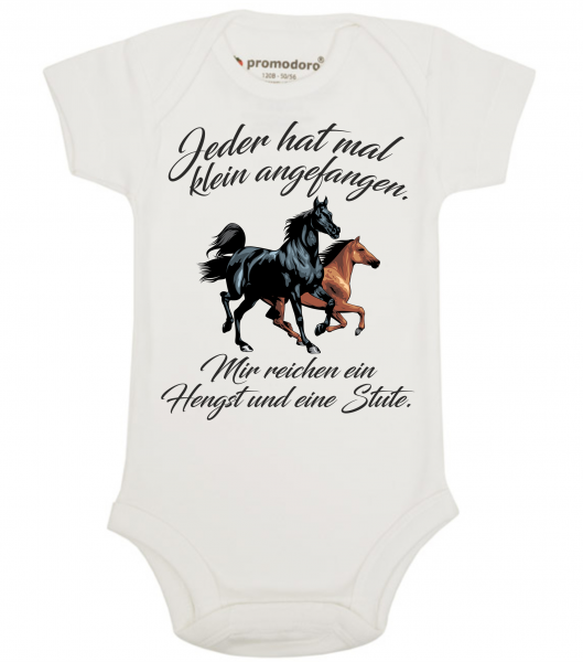 Organic Baby Bodysuit - Jeder hat mal klein angefangen