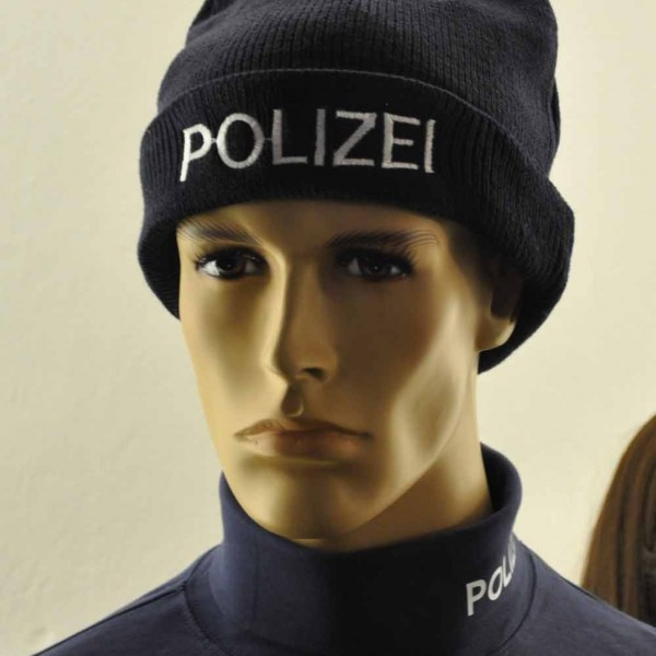 Polizei Strickmütze