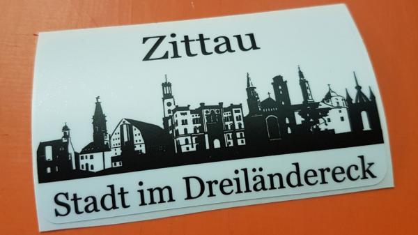 """Aufkleber """"Zittau - Stadt im Dreiländereck"""""""