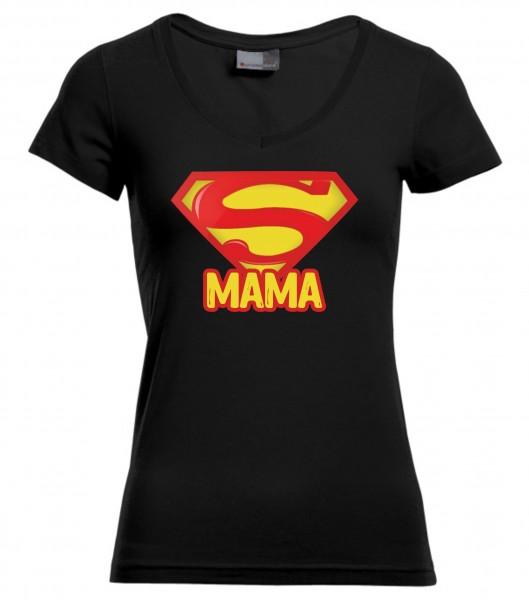 Slim-Fit-V-Neck-T - Super Mama