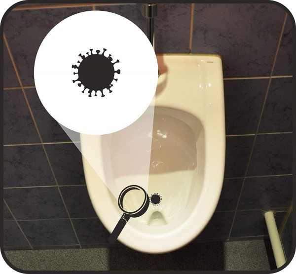Pissoirzielhilfen - piss off - Corona Virus